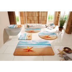 badmat »zeester«, my home selection, hoogte 14 mm, antislip-coating, geschikt voor vloerverwarming multicolor