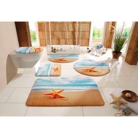 Badmat, MY HOME SELECTION, »Zeester«, hoogte 14 mm, traagschuim