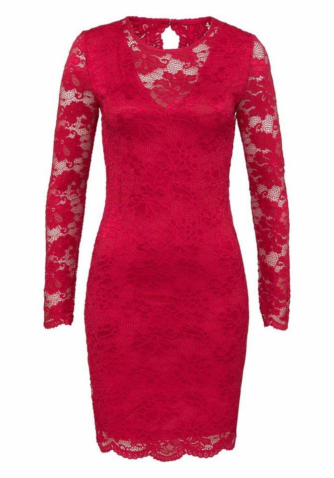 Vero Moda kanten jurk JOY rood