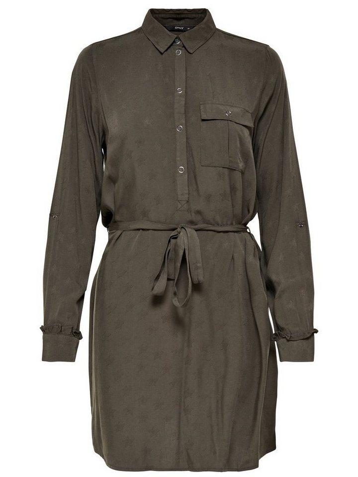 ONLY Blouse jurk bruin