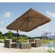 schneider parasols parasol »rhodos«, 300x300 cm, inclusief beschermhoes en te verzwaren voet bruin
