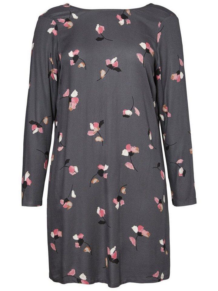Junarose Bloemen jurk grijs