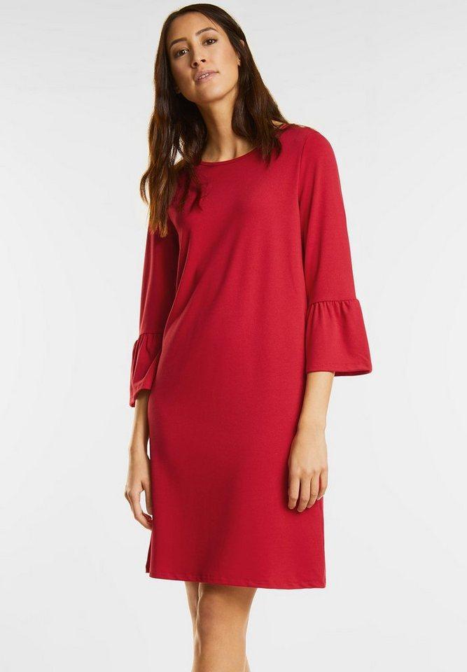 Street One jurk met volant rood