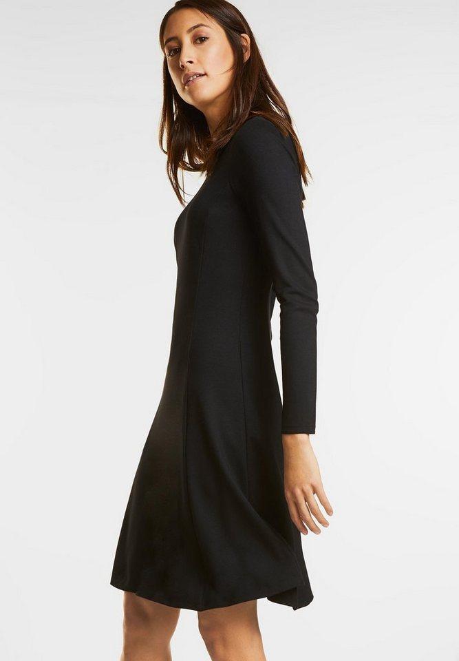 Street One Heavy jersey jurk zwart