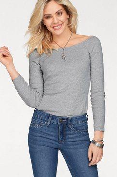 arizona shirt met carmenhals »off-shoulder« grijs
