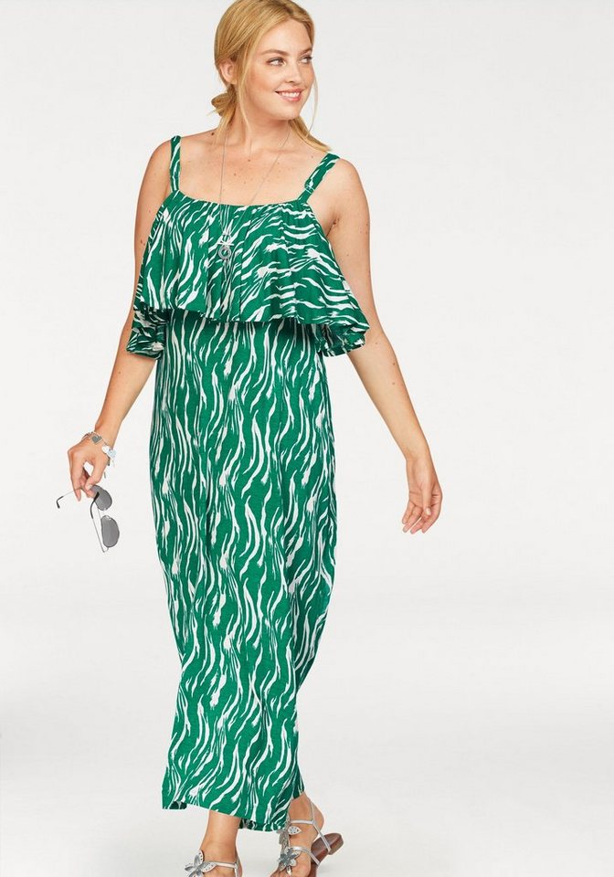 Junarose maxi-jurk groen