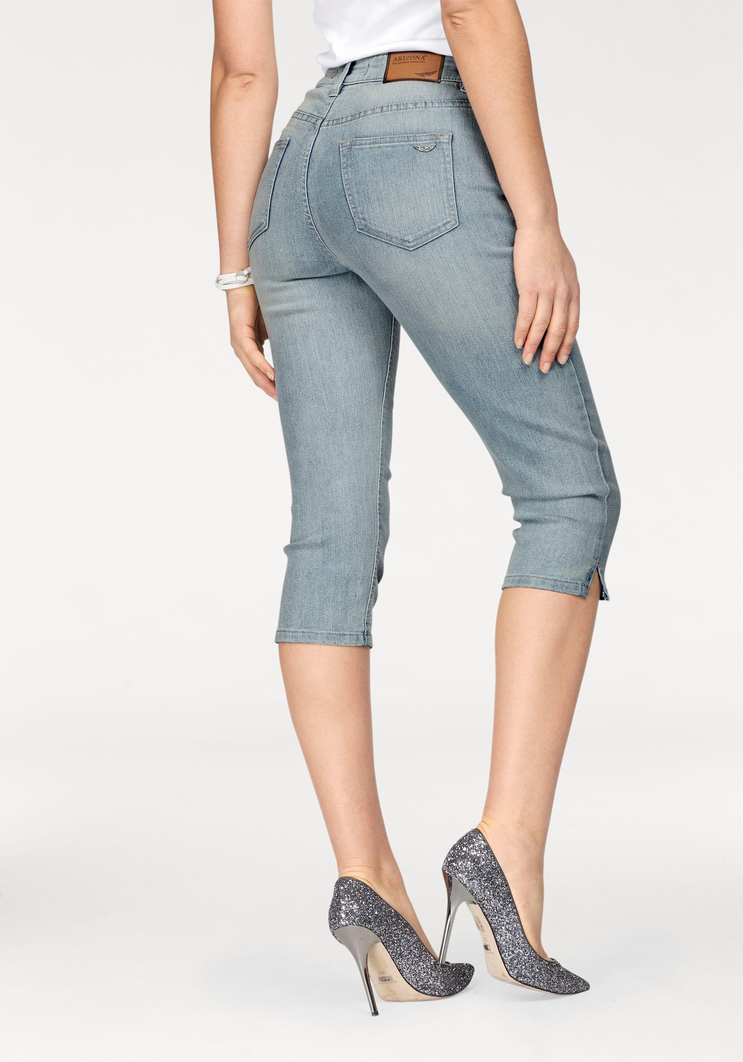 Arizona capri jeans Met splitje in de zoom High Waist - verschillende betaalmethodes
