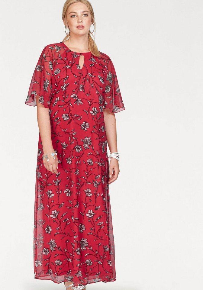 NU 21% KORTING: Junarose maxi-jurk rood
