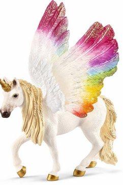schleich speelfiguur bayala, gevleugelde regenboogeenhoorn (70576) multicolor
