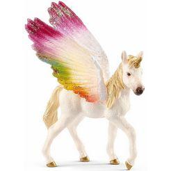 schleich speelfiguur 'bayala, gevleugeld regenboog eenhoornveulen, 70577' multicolor