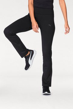 puma jazzpants »wt essential straight leg pant« zwart