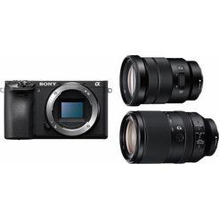 sony alpha ilce-6500tbdi systeemcamera inclusief selp18105g  sel70300g-objectief zwart