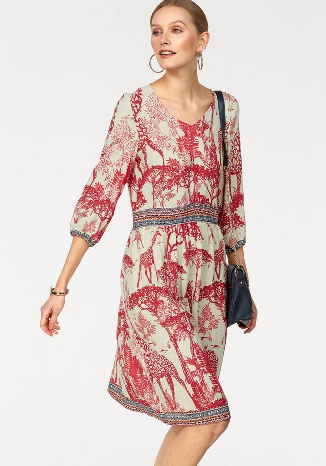 Daniel Hechter gedessineerde jurk multicolor