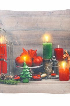 led-kussenovertrek, my home, »santa« (per stuk) rood