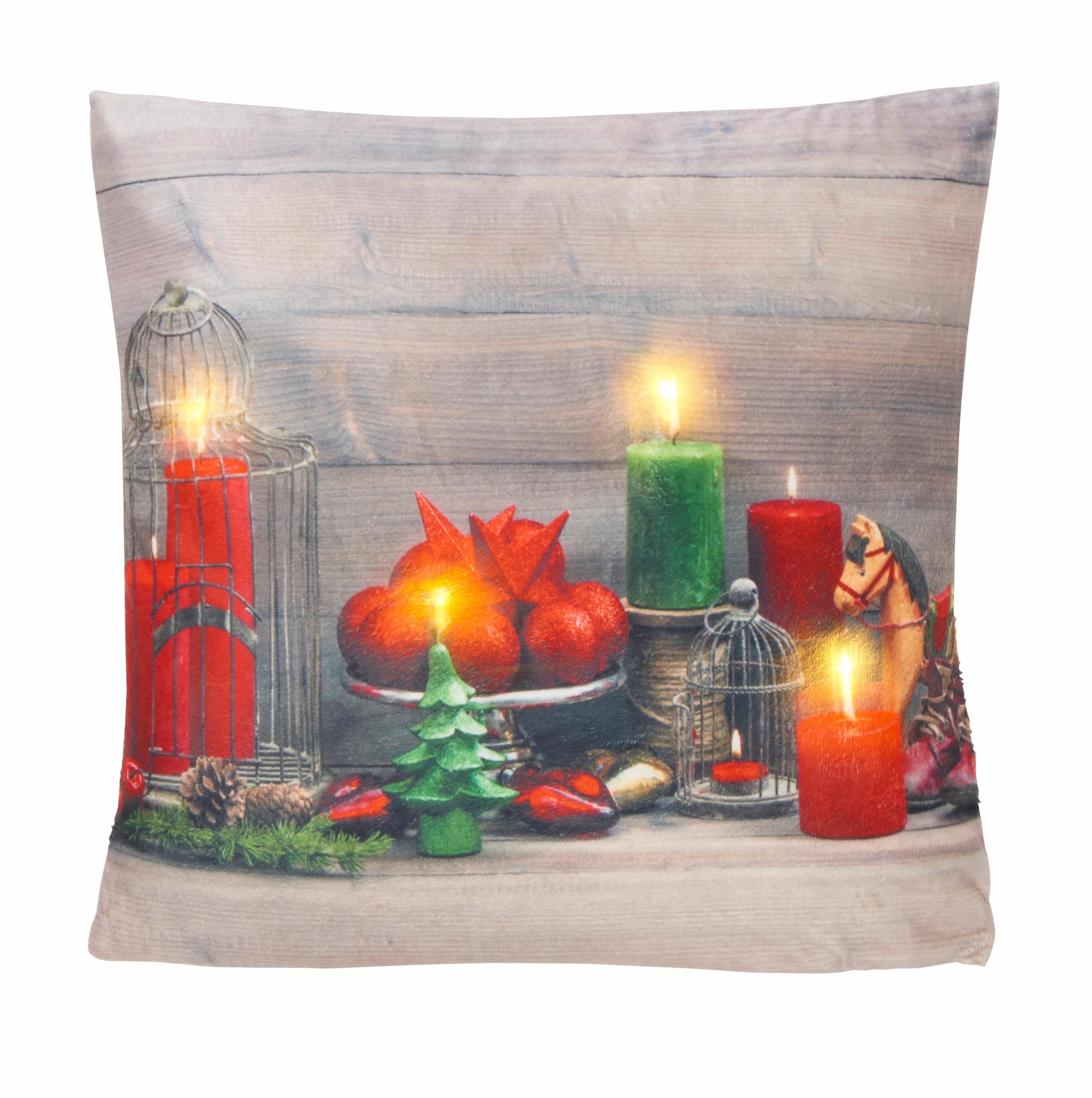 My Home Led-kussenovertrek, »Santa« (per stuk) nu online kopen bij OTTO