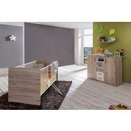 voordeelset babykamer »bergamo«, ledikantje + commode (2-dlg.), in imitatie-sanremo-eiken-alpinewit bruin