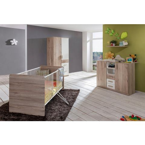 Babykamer Bergamo, ledikantje + commode + 2-deurskast, (3-dlg.)