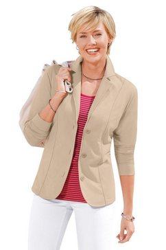 casual looks jerseyblazer in comfortabele en gemakkelijk te onderhouden kwaliteit bruin