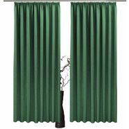 gordijn, »una«, vhg, rimpelband 2 stuks groen