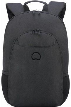 delsey rugzak met 13,3-inch laptopvak, »esplanade, zwart« zwart