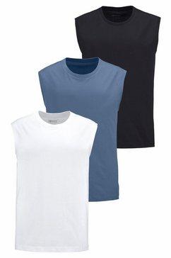 man's world muscle-shirt van puur katoen (set, 3-delig, set van 3) zwart