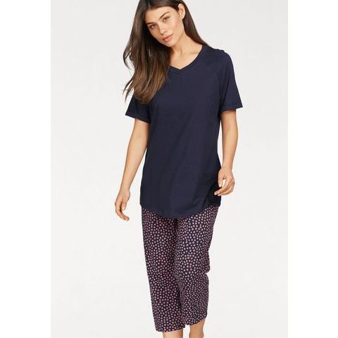 Otto - Seidensticker NU 15% KORTING: Seidensticker pyjama met gestippelde capribroek