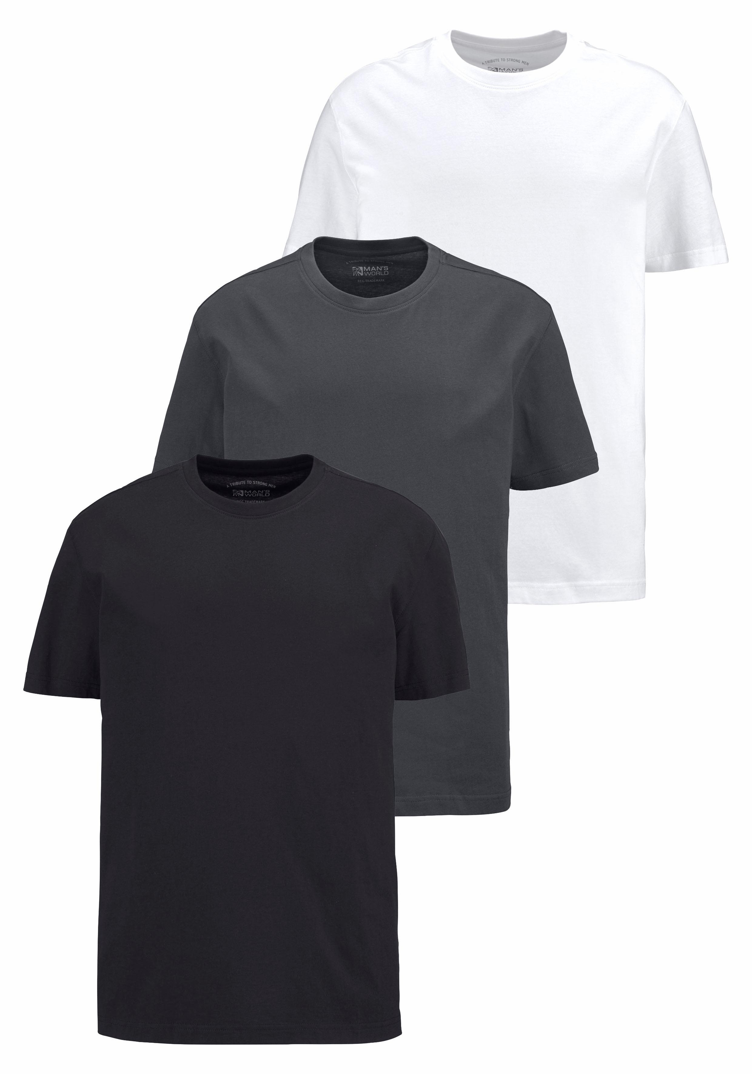 Man's World T-shirt Basic kleuren (set, 3-delig, Set van 3) in de webshop van OTTO kopen