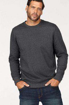 man's world sweatshirt in een katoenmix grijs