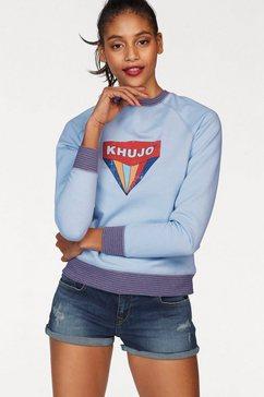 khujo sweatshirt »darinka« blauw