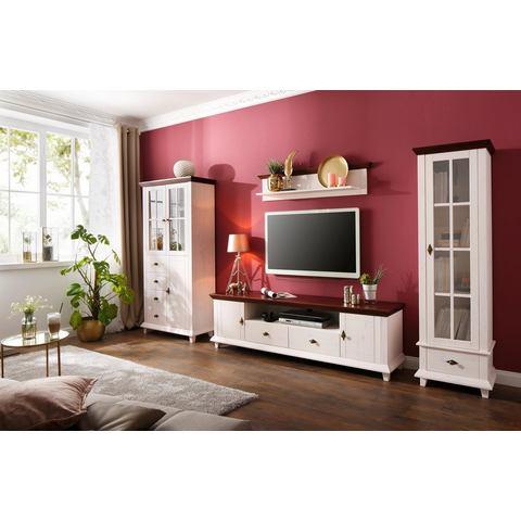Home affaire tv-meubel Gali, massief hout, in 2 afmetingen, met praktische snoergeleiding
