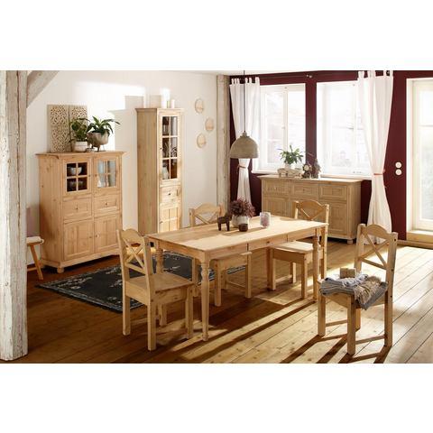 Home affaire eettafel Kristin, van massief hout, in twee verschillende kleuren, breedte 160 cm