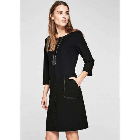 s.Oliver BLACK LABEL Aansluitende shift dress met lakranden