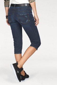 kangaroos capri jeans in 7-8-lengte met destroyed details blauw
