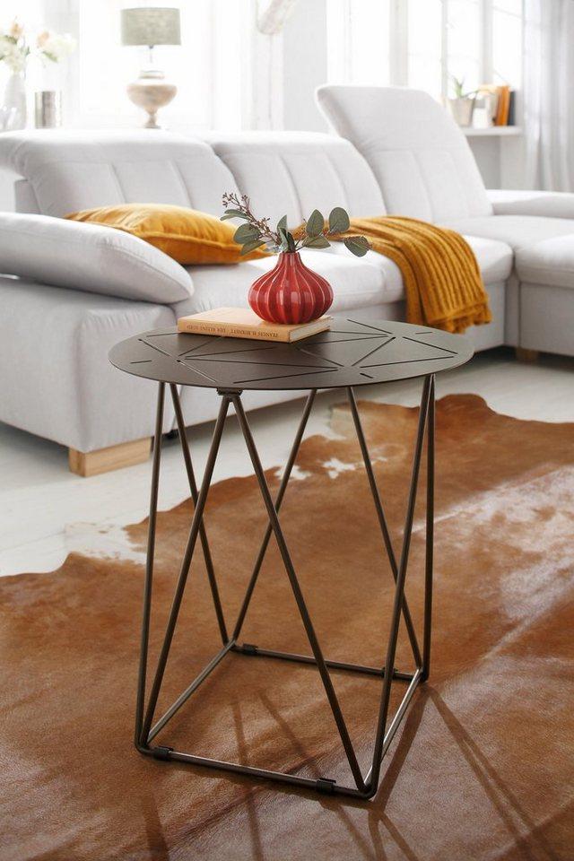 Home affaire bijzettafel Cypress, Ø 50 cm, van metaal