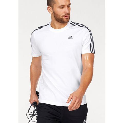 NU 15% KORTING: ADIDAS PERFORMANCE T-shirt »ESSENTIALS 3 STRIPES TEE«