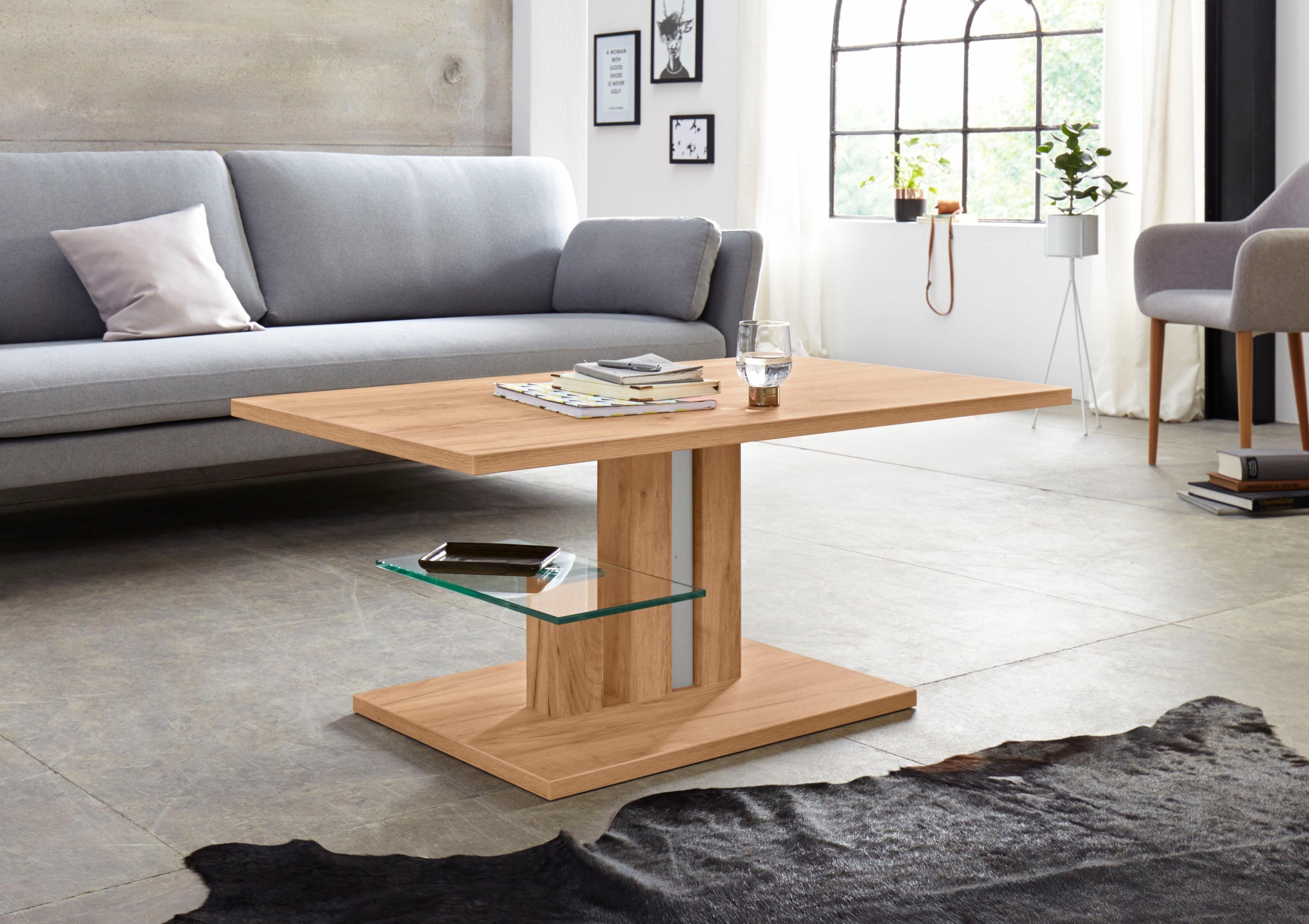 Inosign salontafel »Bergamo« met glasplaat, onderstel in drie aantrekkelijke kleuren veilig op otto.nl kopen