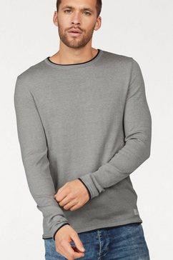 blend trui met ronde hals grijs