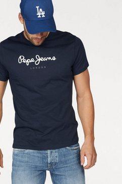 pepe jeans shirt met ronde hals eggo blauw