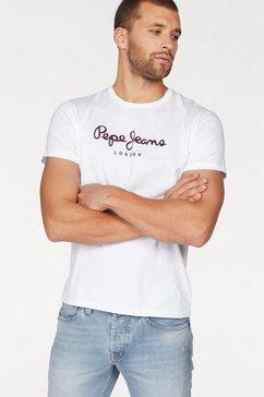 pepe jeans shirt met ronde hals »eggo« wit