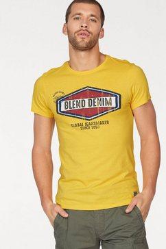 blend t-shirt in een retro-look geel