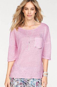 toni shirt met ronde hals roze