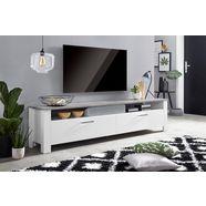 homexperts »zabona« tv-meubel, breedte 200 cm grijs