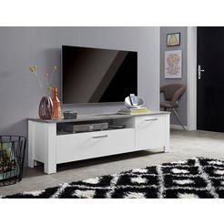 homexperts »zabona« tv-meubel, breedte 165 cm grijs