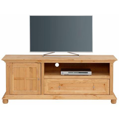 Home affaire tv-meubel Kristin, van massief hout, in twee verschillende kleuren, breedte 161 cm
