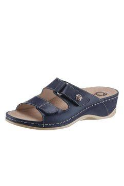 slippers met een uitneembaar voetbed blauw