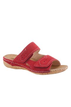 reflexan slippers met verwisselbaar voetbed, met klittenband rood