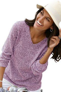 casual looks trui van zacht mêleegaren paars