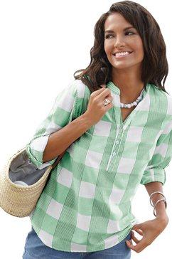 casual looks blouse van puur katoen groen
