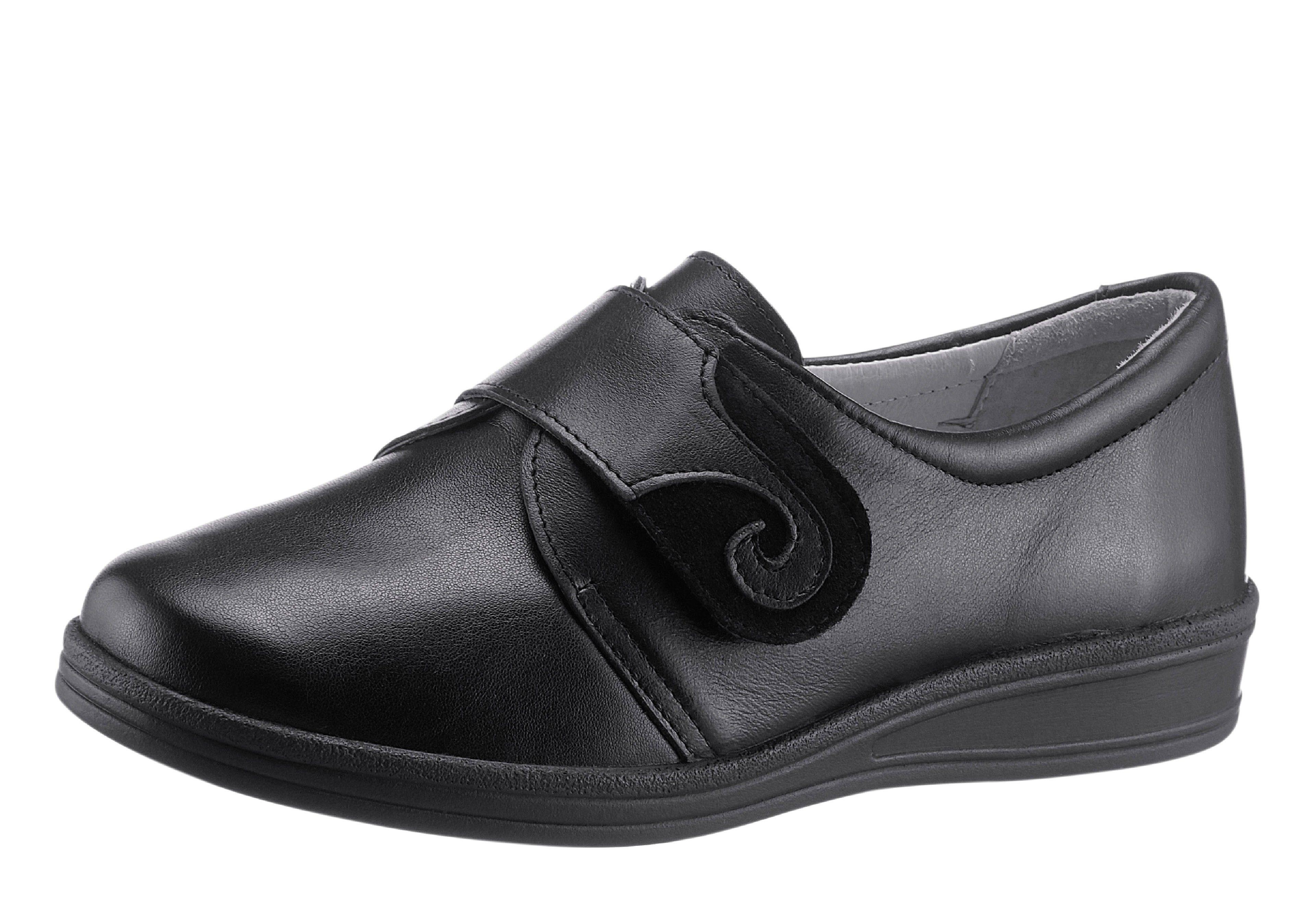 Klittenbandschoenen met uitneembaar, leren voetbed