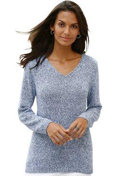 casual looks trui van zacht mêleegaren blauw